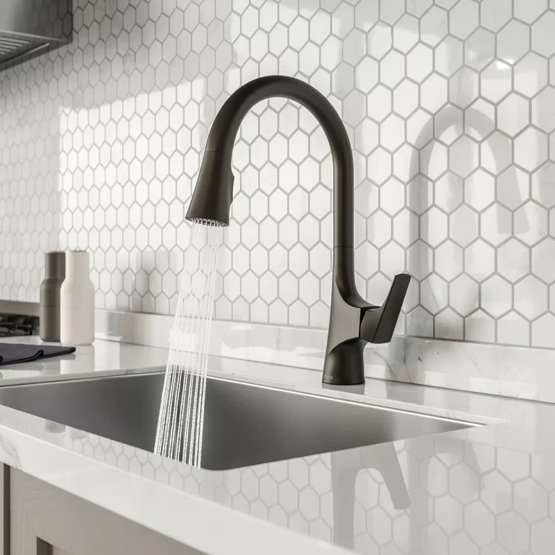 norden pull down single handle kitchen faucet