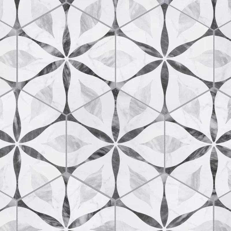 karra 7 x 8 porcelain patterned wall floor tile
