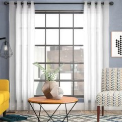 Modern Living Room Curtains Bench Designs Sheer Wayfair Quickview