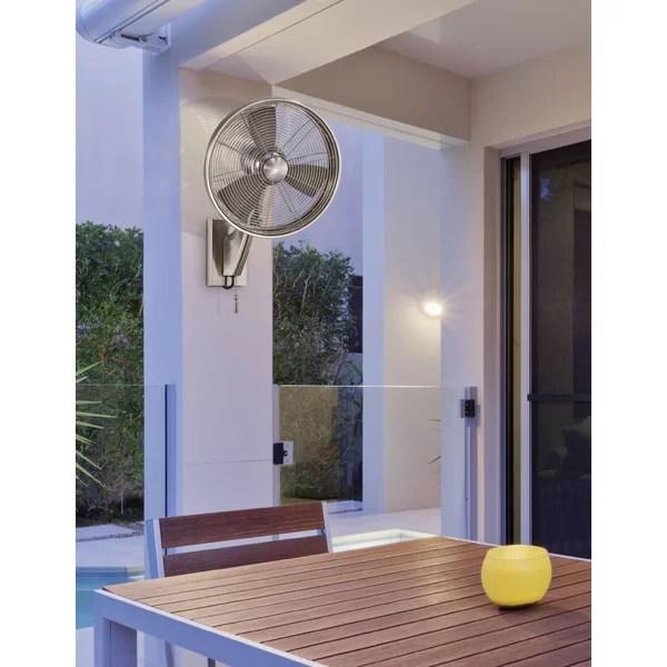 minka aire anywhere 18 4 oscillating wall mounted fan
