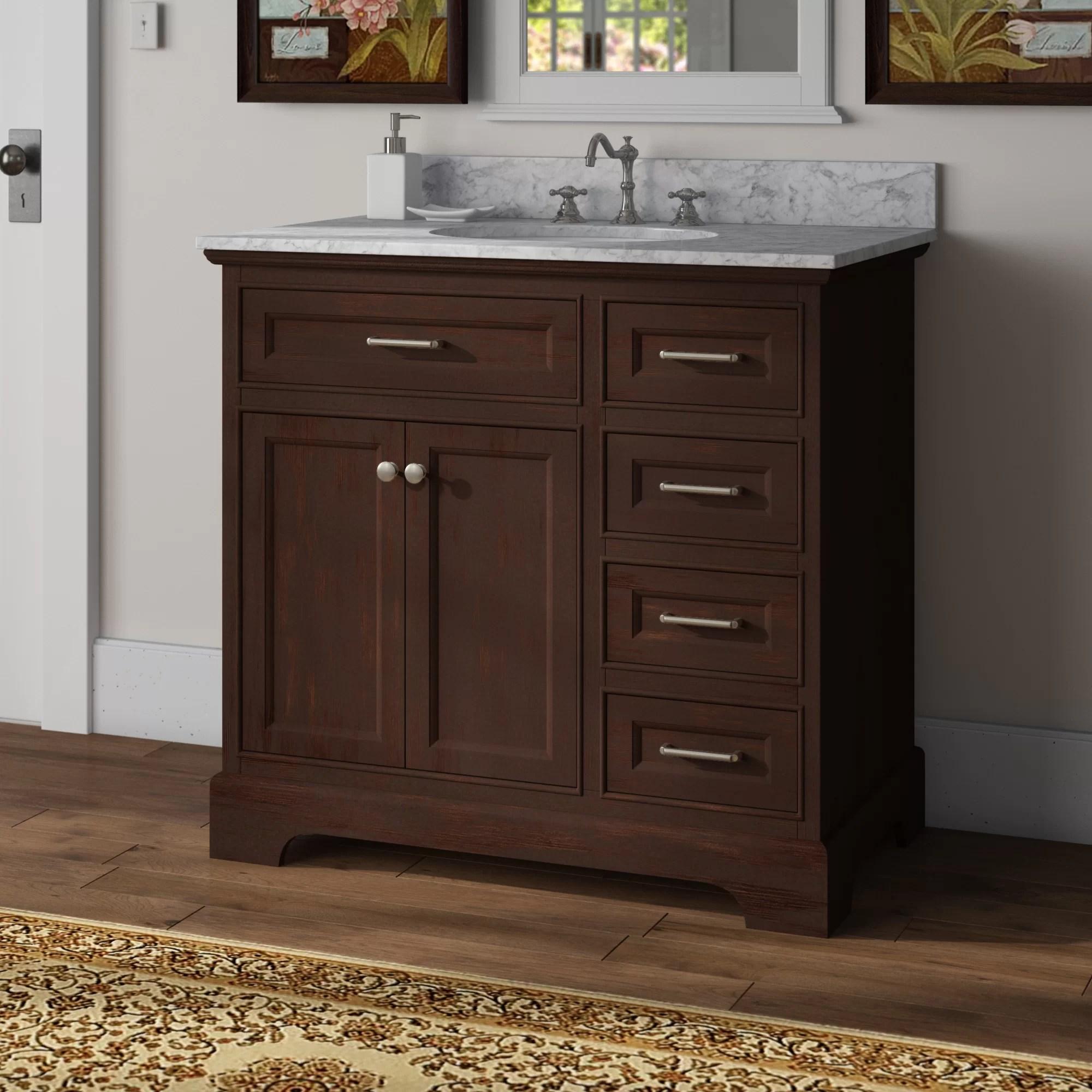 Breakwater Bay Kingon 36 Single Bathroom Vanity Set Reviews Wayfair