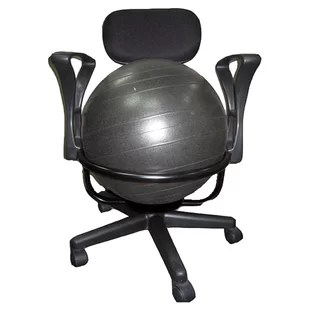 ball chair for office ice fishing cabela's exercise chairs you ll love wayfair high back