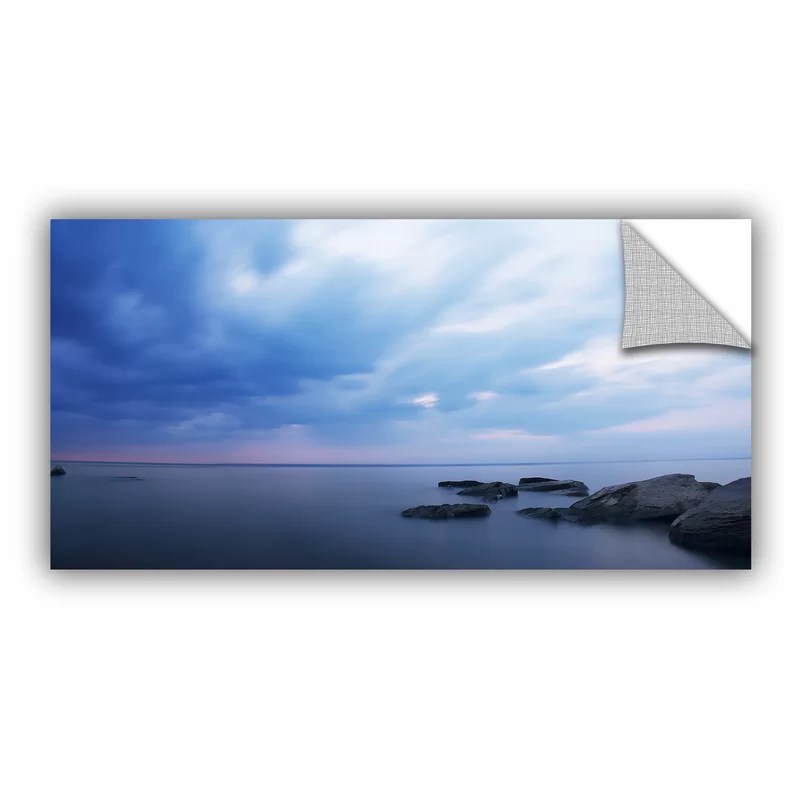 Water And Rocks by Dan Wilson  Removable Wall Decal Size: 24 H x 48 W x 0.1 D