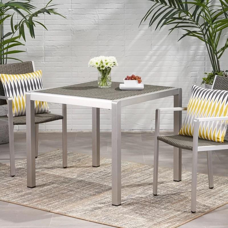 royalston wicker rattan dining table