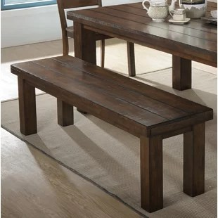 benches for kitchen table chef design dining birch lane morefield wood bench