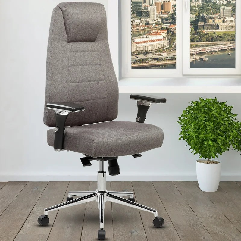 office chairs with wheels diy thanksgiving chair covers ivy bronx henson height adjustable executive high back home wayfair