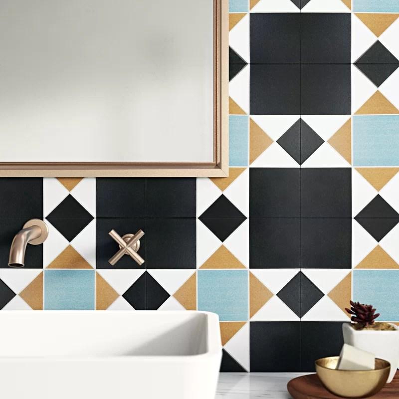 branice nouveau 13 x 13 porcelain field tile