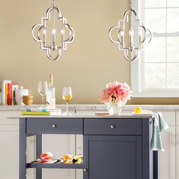 farmhouse kitchen lighting fixtures space saving tables you ll love wayfair