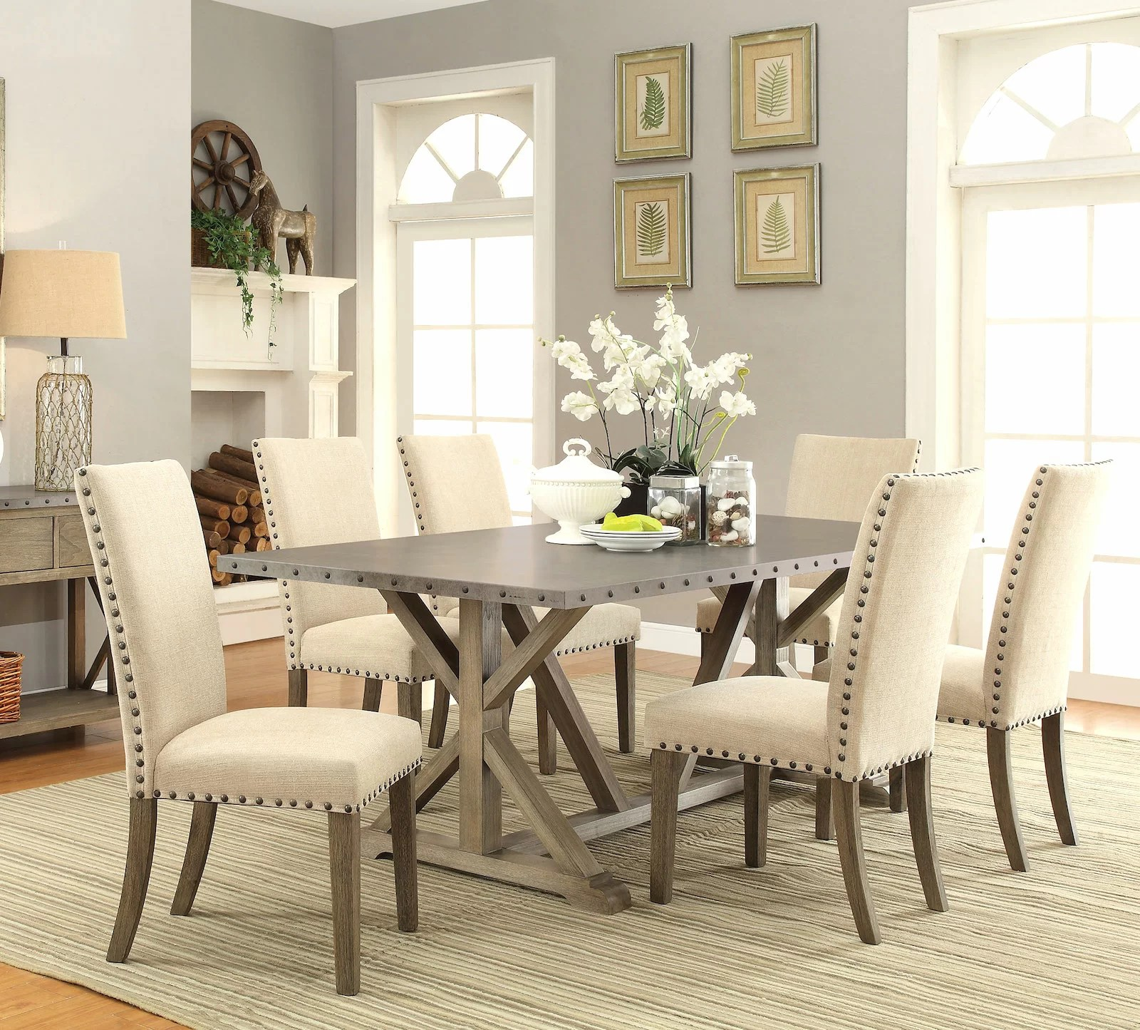 Black Dining Room Table And Chairs Athens 7 Piece Dining Set