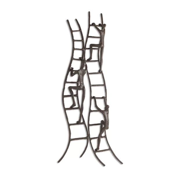 World Menagerie Climbing to Success Stairway Iron Wall