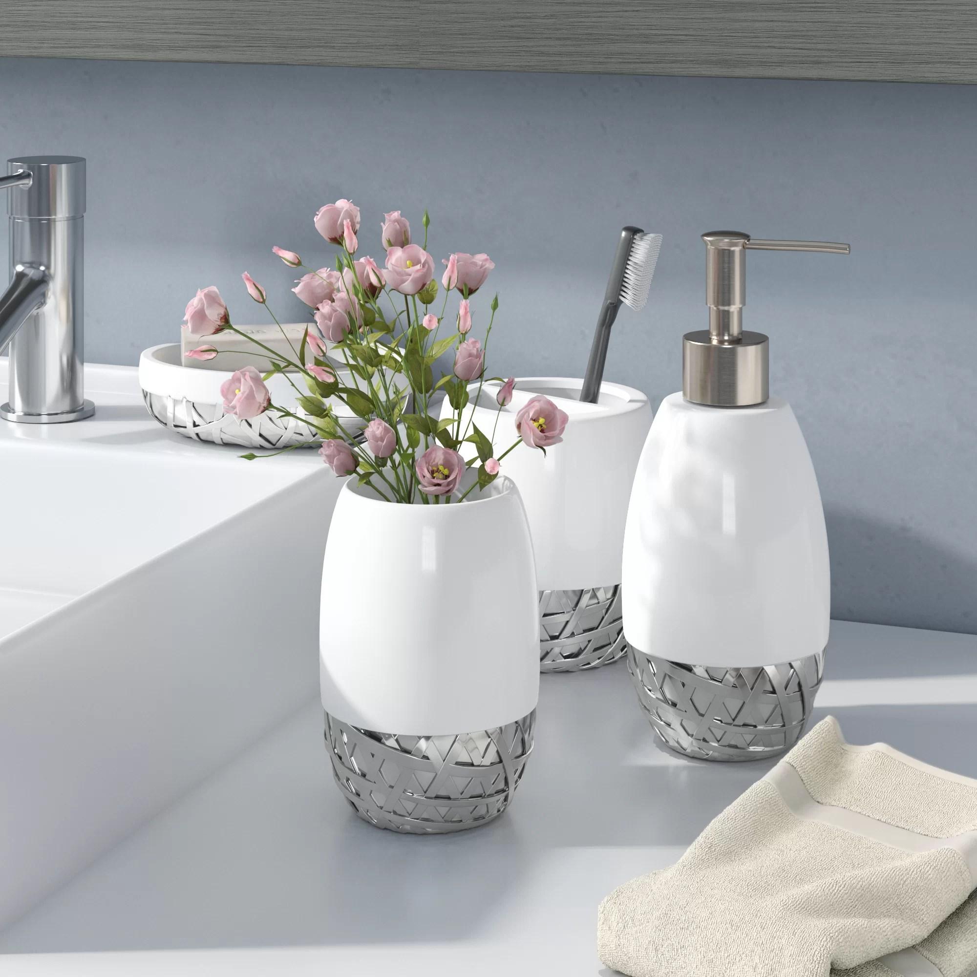Orren Ellis Stiltner 4 Piece Bathroom Accessory Set Reviews Wayfair