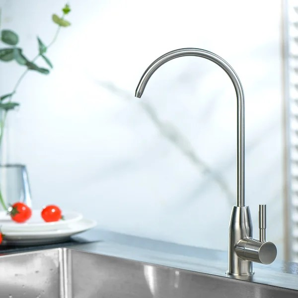 kitchen water filter faucet stainless steel brushed nickel drinking water faucet