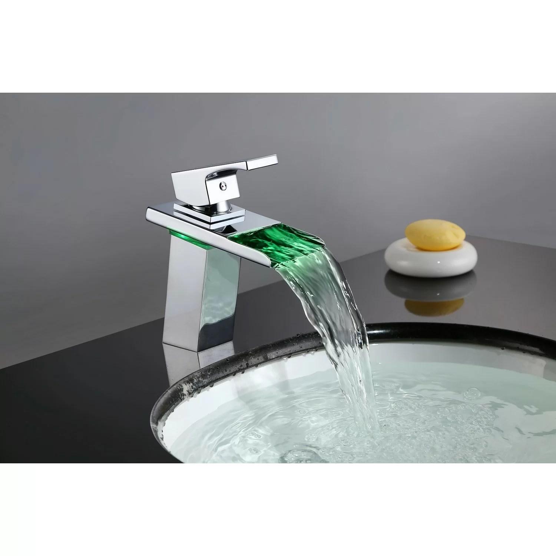 waterfall single hole bathroom faucet