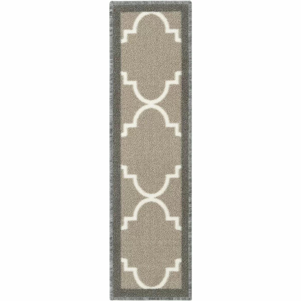 Well Woven Kings Court Brooklyn Trellis Lattice Non Skid Stair | Rug Stair Treads Non Slip | Vinyl Flooring | Skid Resistant | 8.5 X26 | Overstock | Mat