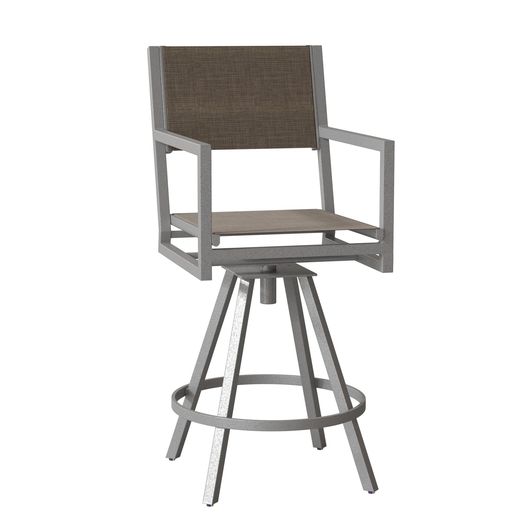 palm coast sling swivel 29 5 patio bar stool