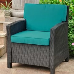 Turquoise Patio Chairs Wedding Chair Covers Huddersfield Set Wayfair Binney Wicker Resin Contemporary With Cushion