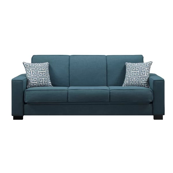 modern convertible sofa with pull out bed bagsie usa small scale sleeper wayfair