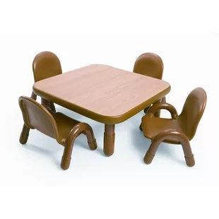 where to buy toddler table and chairs modern ergonomic sterling leather executive chair feeding wayfair square baseline set in natural