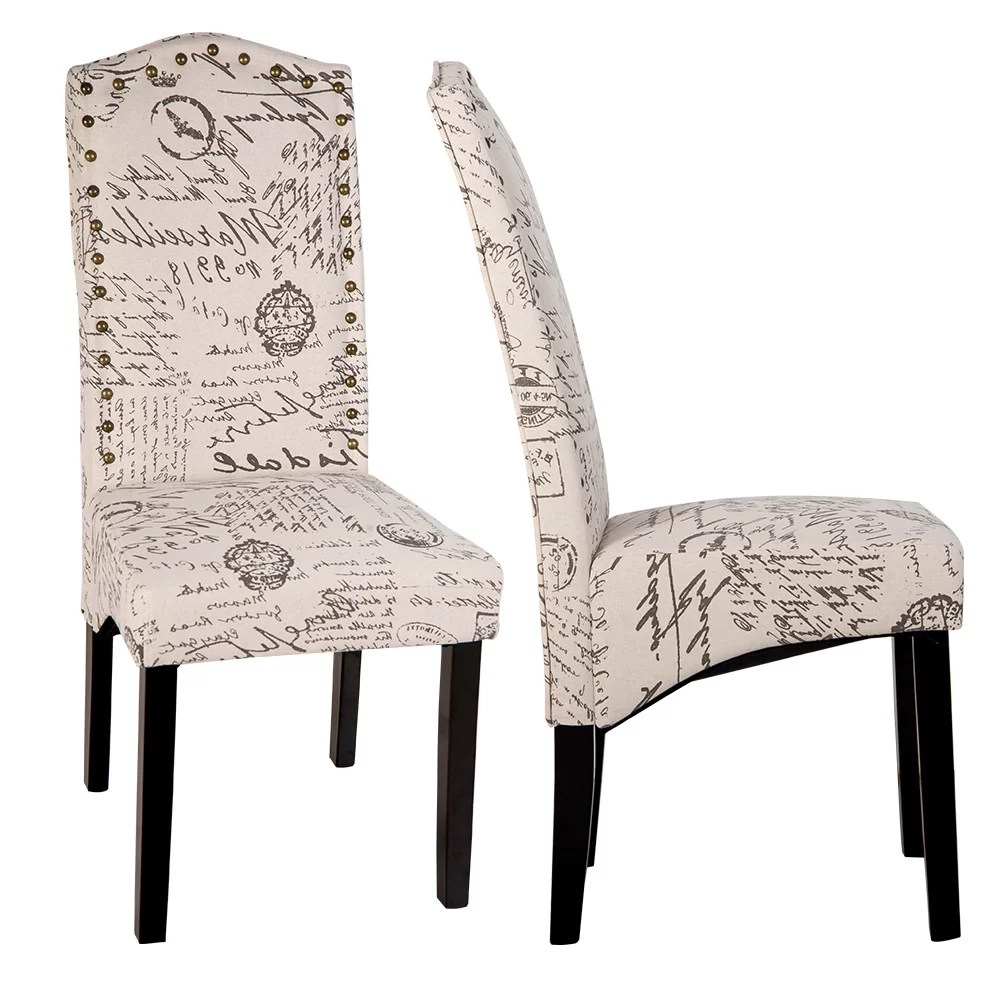 Script Chair Wachapreague Script Upholstered Dining Chair