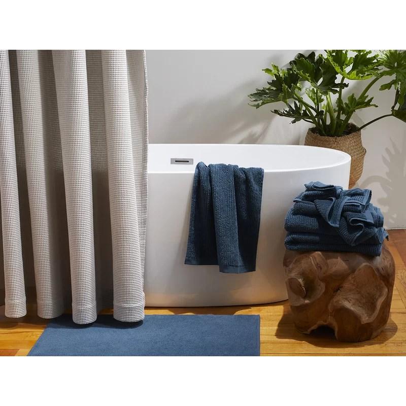 waffle organic 100 cotton single shower curtain