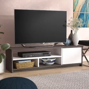 tv stand for small living room most comfortable chairs stands spaces wayfair ca save