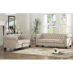sofa set living room interior decorating rectangular sets you ll love wayfair sweetbriar 2 piece