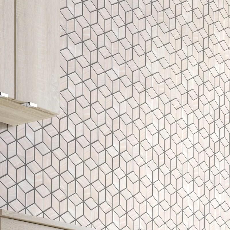 luxe diamond 2 x 2 porcelain mosaic tile