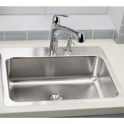 27 Kitchen Sink Faucet Wall Mount Elkay Lustertone L X 22 W Drop In With Perfect Drain
