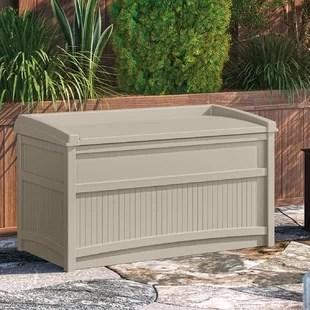 outdoor 50 gallon resin deck box