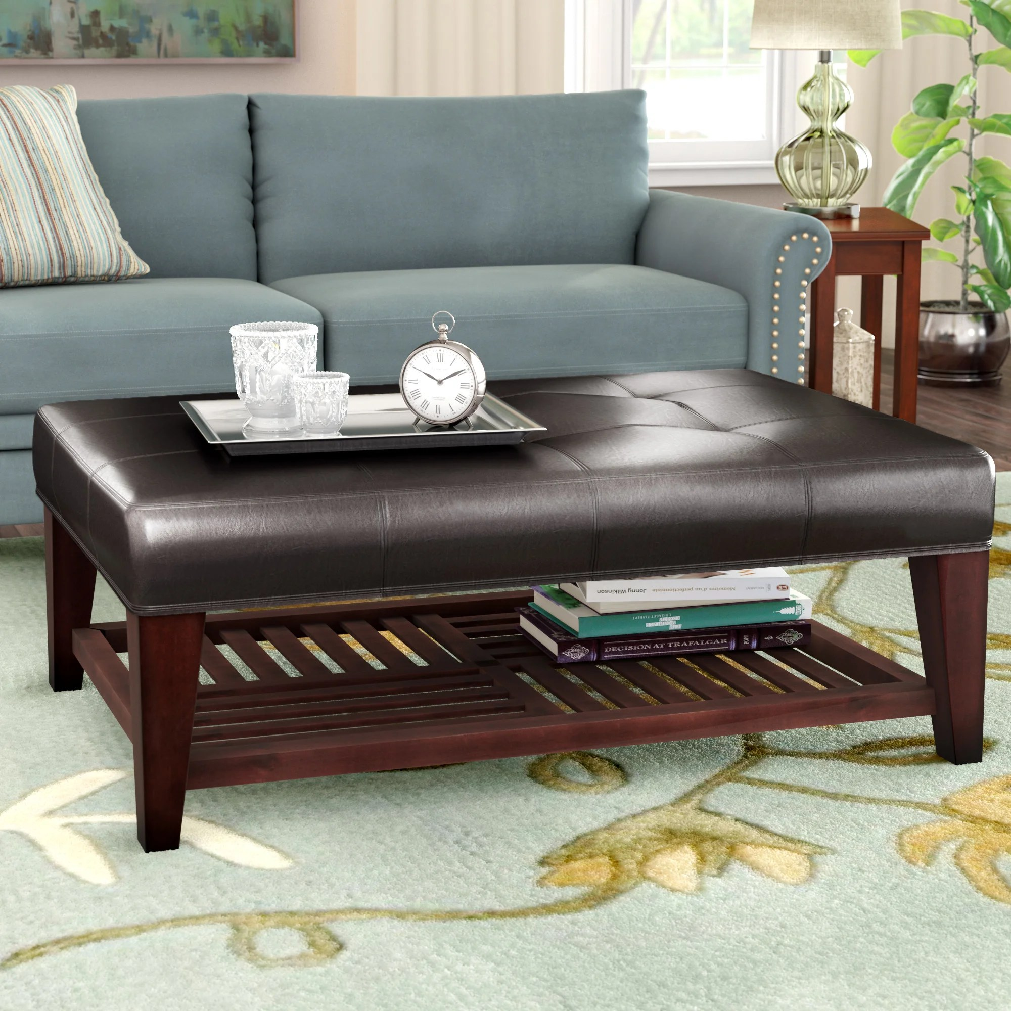 leather faux leather coffee tables