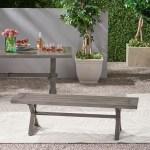 Gracie Oaks Oyler Modern Outdoor Aluminum Picnic Bench Reviews