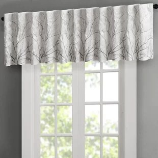 kitchen valance wall tiles for valances curtains joss main gladeview faux silk embroidered 50 window