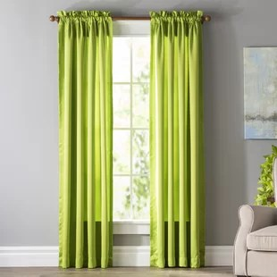 green curtains for living room images of furniture arrangements darkening you ll love wayfair quickview