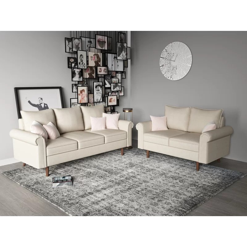 2 piece living room set kitchen diner layouts charlton home omar reviews wayfair