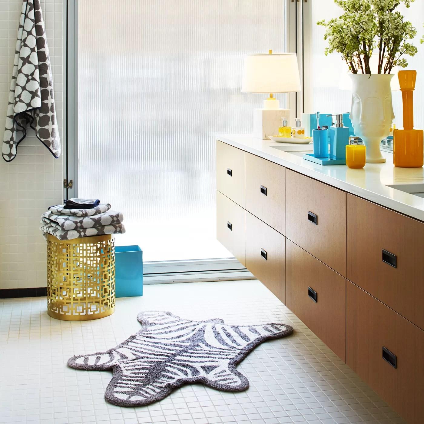 Jonathan Adler Zebra 100 Cotton Reversible Animal Print Bath Rug Reviews