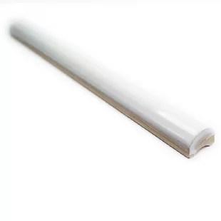 catalina 12 x 0 75 ceramic pencil liner tile trim in white