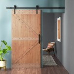 Lubann Paneled Wood Unfinished Barn Door With Installation Hardware Kit Reviews