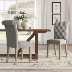 Gray Upholstered Dining Chairs Arm Chair Covers Ebay Wingback Wayfair Quickview