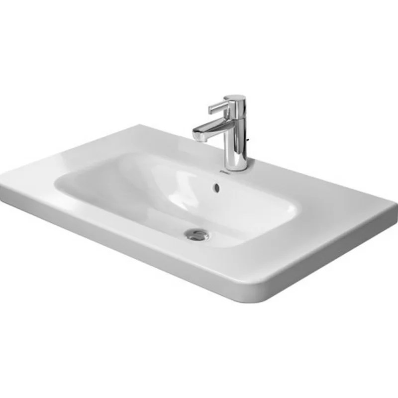 DuraStyle Ceramic 32 Wall Mount Bathroom Sink with Overflow