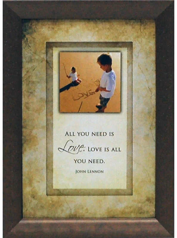 All You Need is Love. Love is all You Need by Brett West Framed Graphic Art