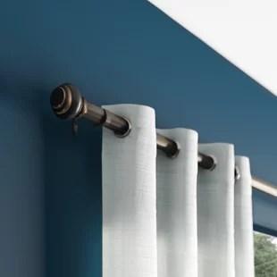 manderson adjustable 1 single curtain rod