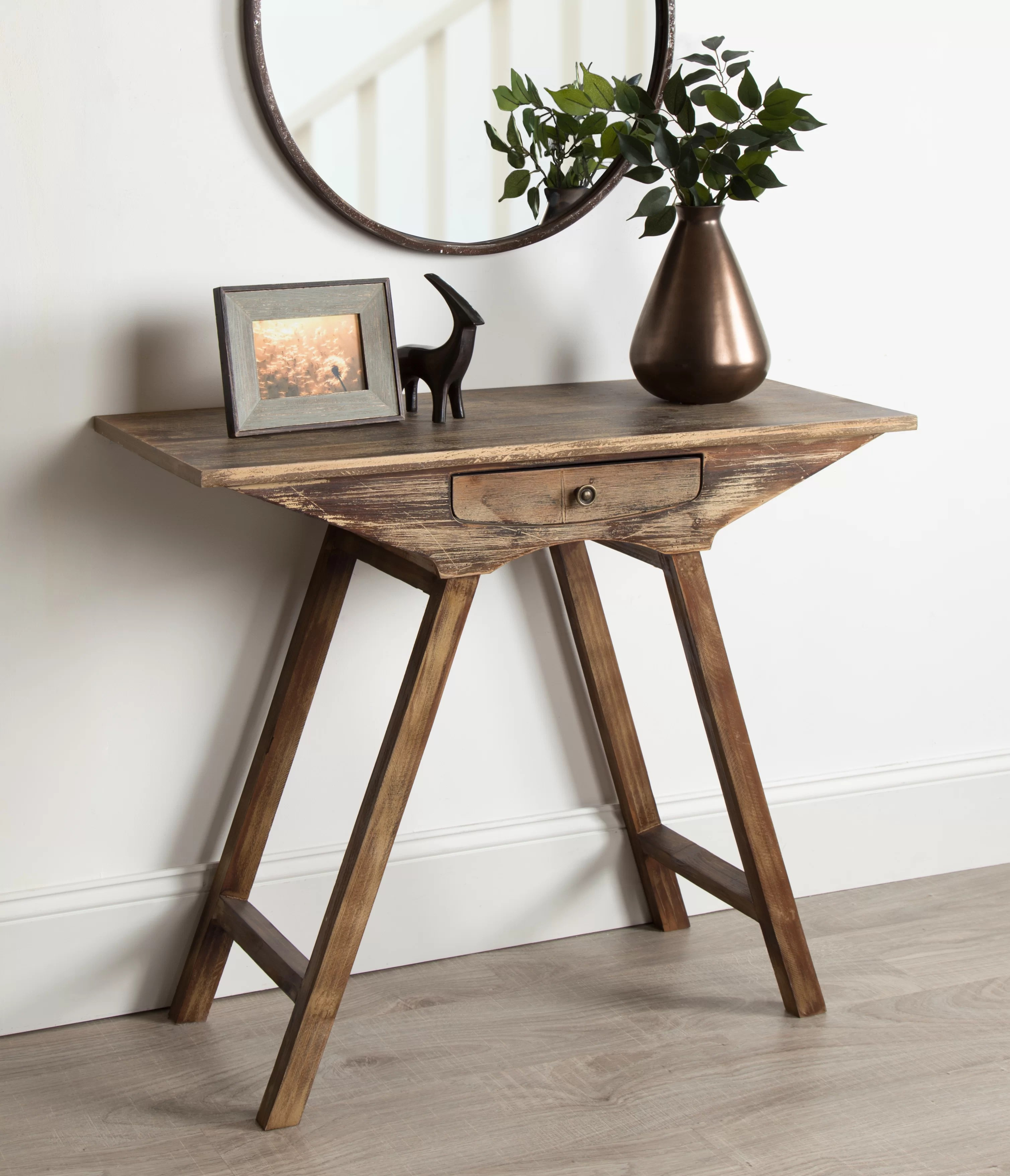 Union Rustic Pringle Chic Small Wooden Console Table Reviews Wayfair