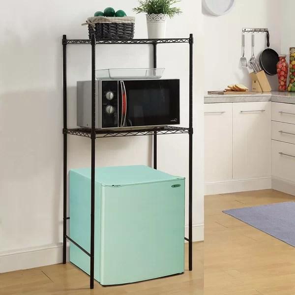 OIA Microwave and MiniFridge Storage Rack  Reviews  Wayfair