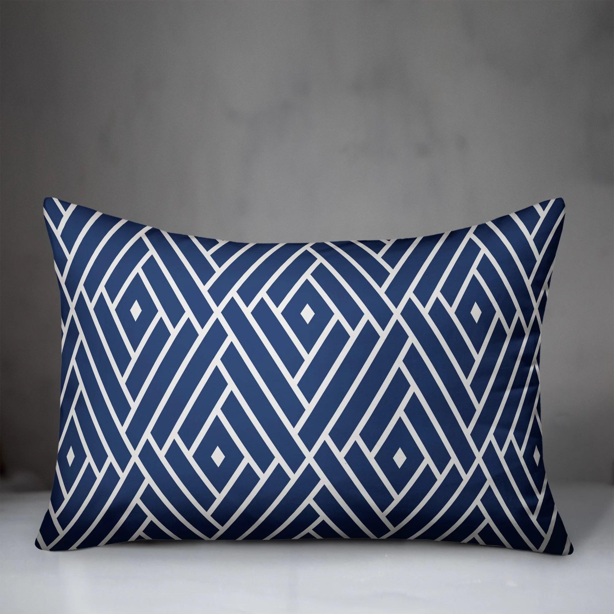 mccaughey abstract diamond indoor outdoor lumbar pillow