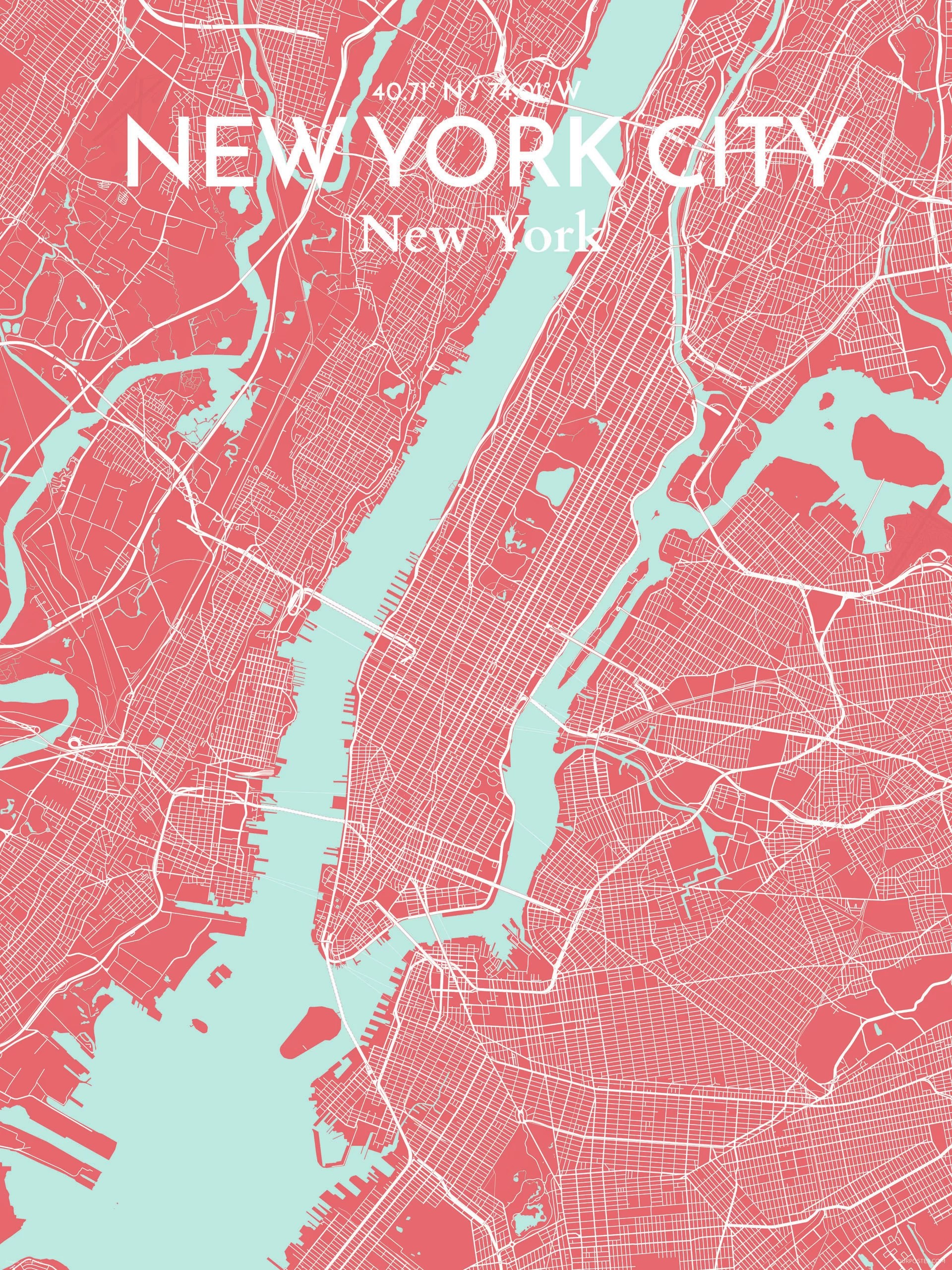 New York City Map Poster : poster, OurPoster.com, Graphic, Print, Poster, Maritime, Wayfair.ca
