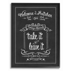 Art For The Kitchen Curtain Stupell Industries Welcome To Chalkboard Textual