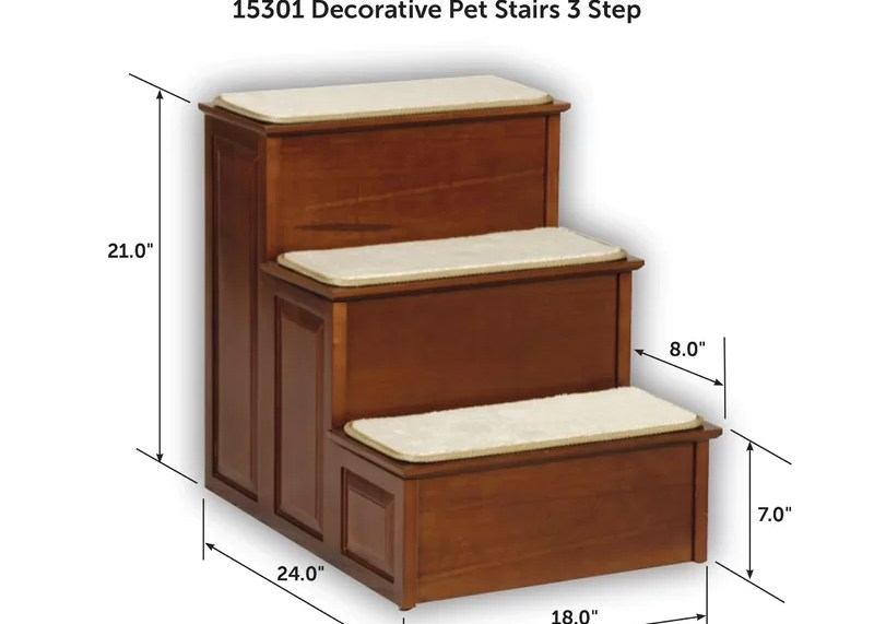 Petsafe® 3 Step Pet Stair Reviews Wayfair   3 Step Wooden Stairs   2 Step   Easy   Stringer   Tread   Outside