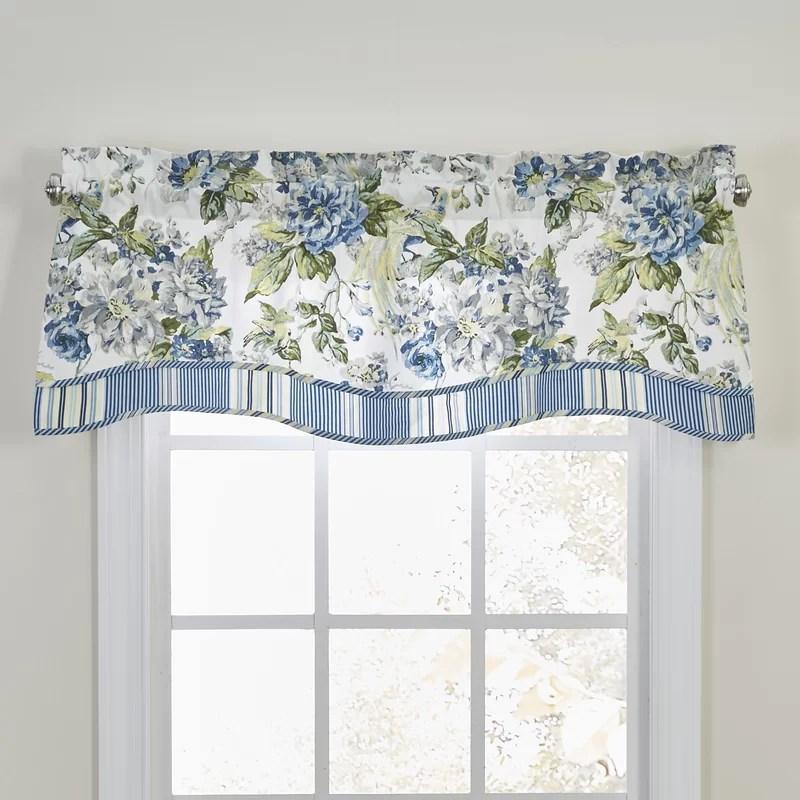 floral engagement curtain valance
