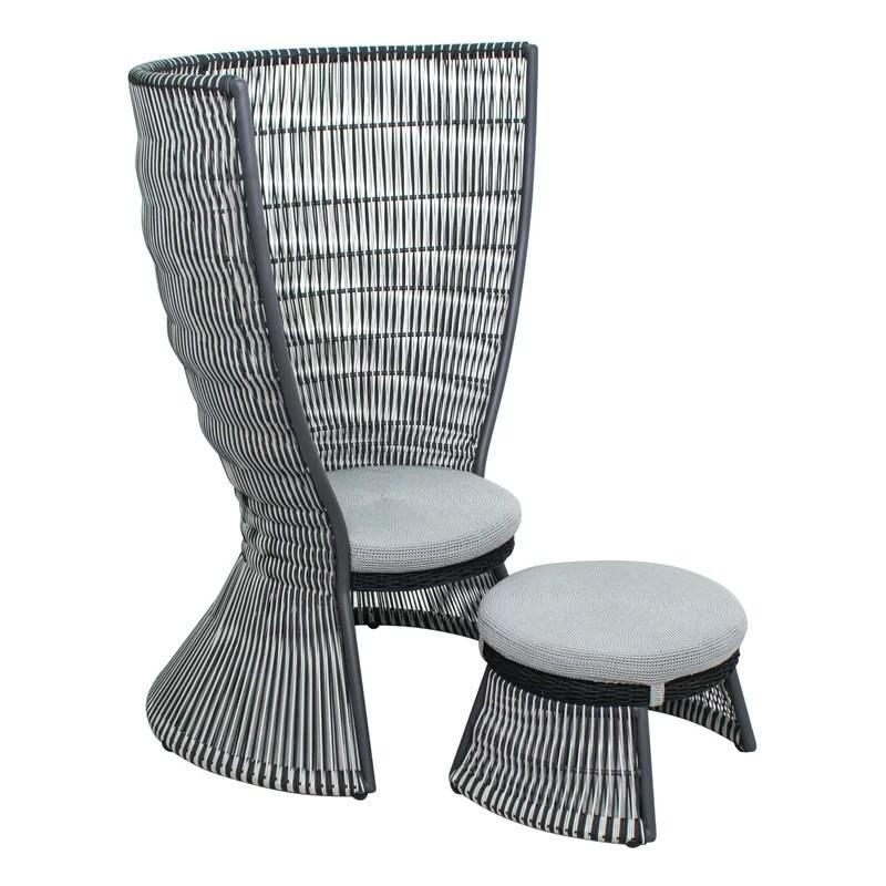 archipelago nicobar patio chair with cushions and ottoman