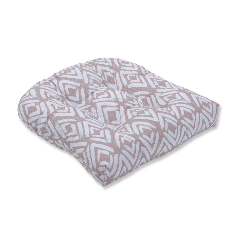 Blush Indoor Wicker Rocking Chair Cushion